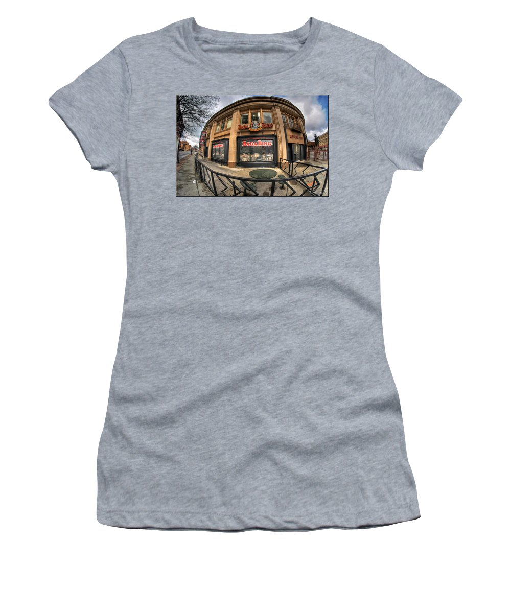 Architecture Women's T-Shirt featuring the photograph Architecture And Places In The Q.c. Series Badabing by Michael Frank Jr