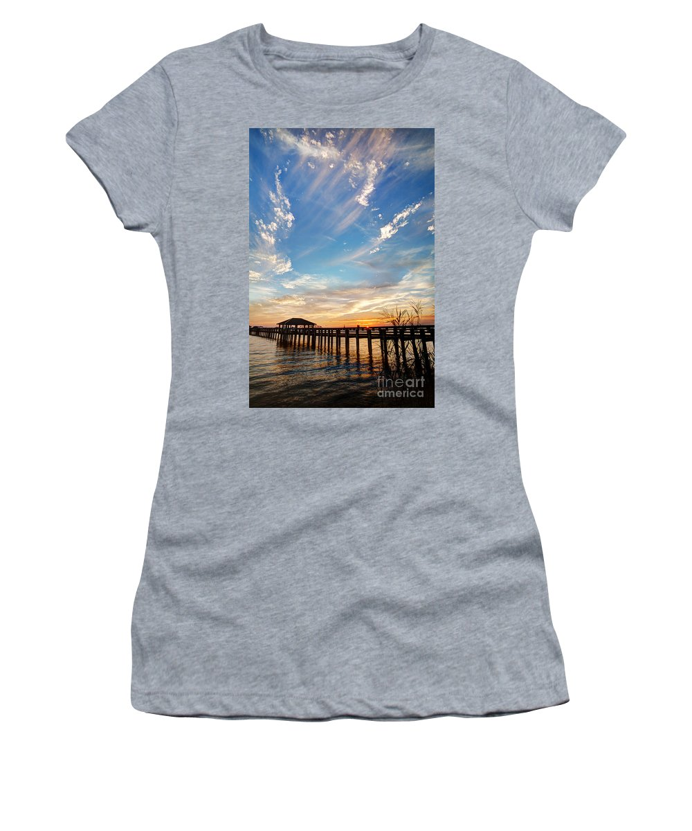 Mississippi Gulf Coast Women's T-Shirt featuring the photograph Atmospheric by Joan McCool