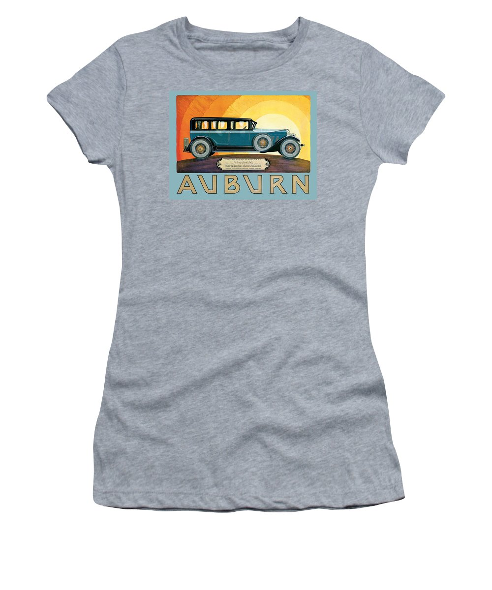 Vintage Automobile Ads And Posters Women's T-Shirt featuring the photograph Auburn by Vintage Automobile Ads and Posters