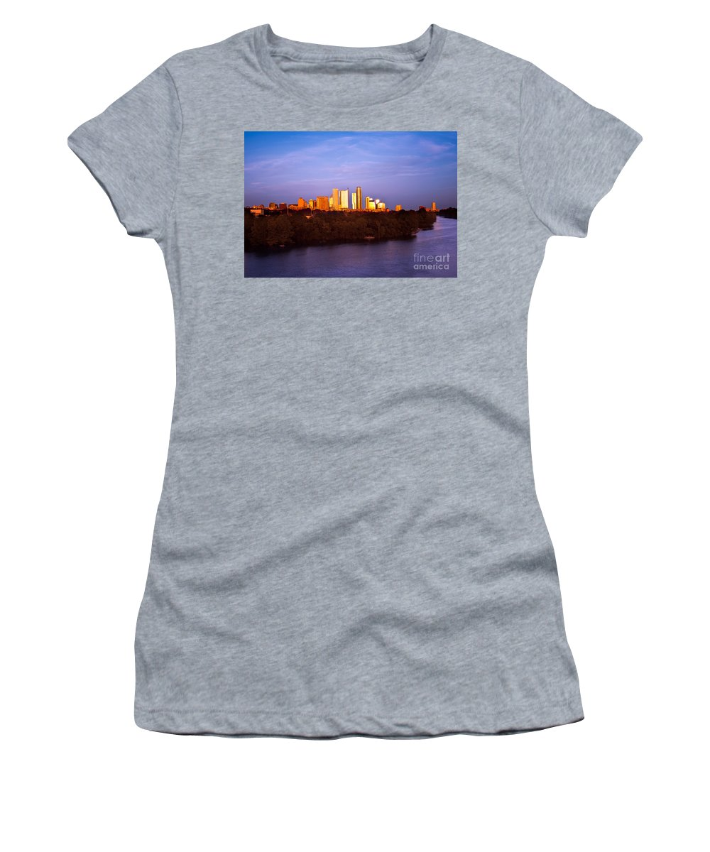 Sunset Women's T-Shirt featuring the photograph Austin At Last Light by Randy Smith