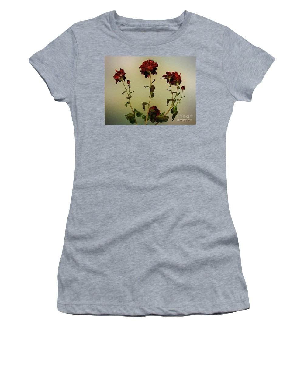 Autumn Women's T-Shirt (Athletic Fit) featuring the painting Autumn Fresco by RC DeWinter