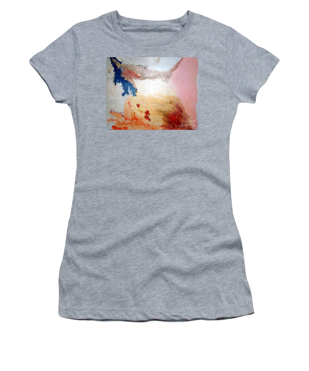 Abstract Women's T-Shirt (Athletic Fit) featuring the painting Autumn by Graciela Castro
