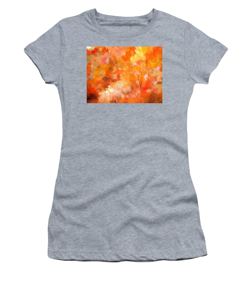 Paintings By Lyle Women's T-Shirt featuring the painting Autumn Leaves by Lord Frederick Lyle Morris - Disabled Veteran