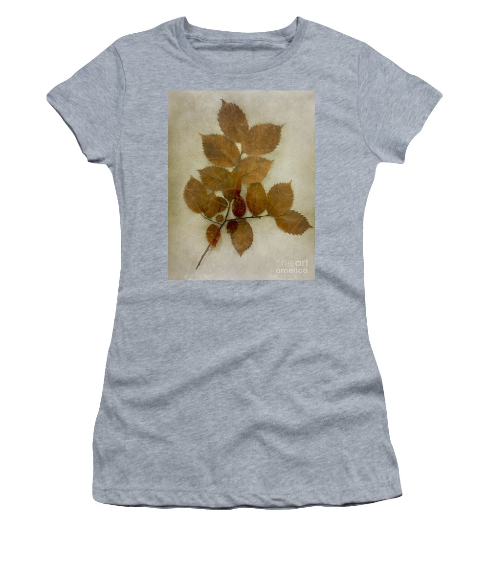 Leaves Women's T-Shirt featuring the photograph Autumn Leaves by Margie Hurwich