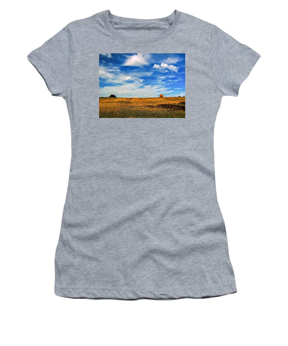 Ontario Women's T-Shirt (Athletic Fit) featuring the photograph Autumn Sky by Steve Harrington