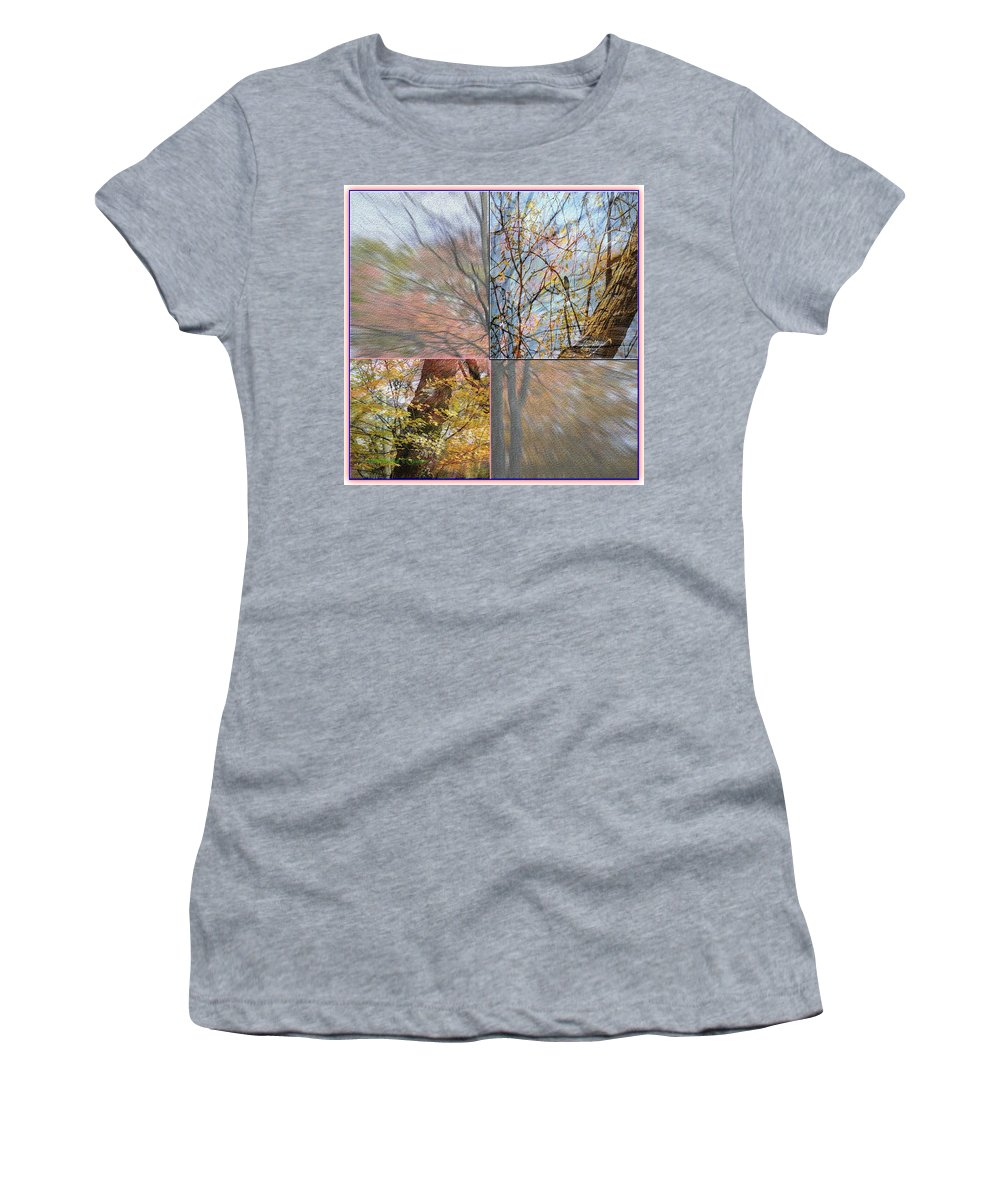 Digitalart Women's T-Shirt featuring the photograph Autumn Spectrum by Sonali Gangane