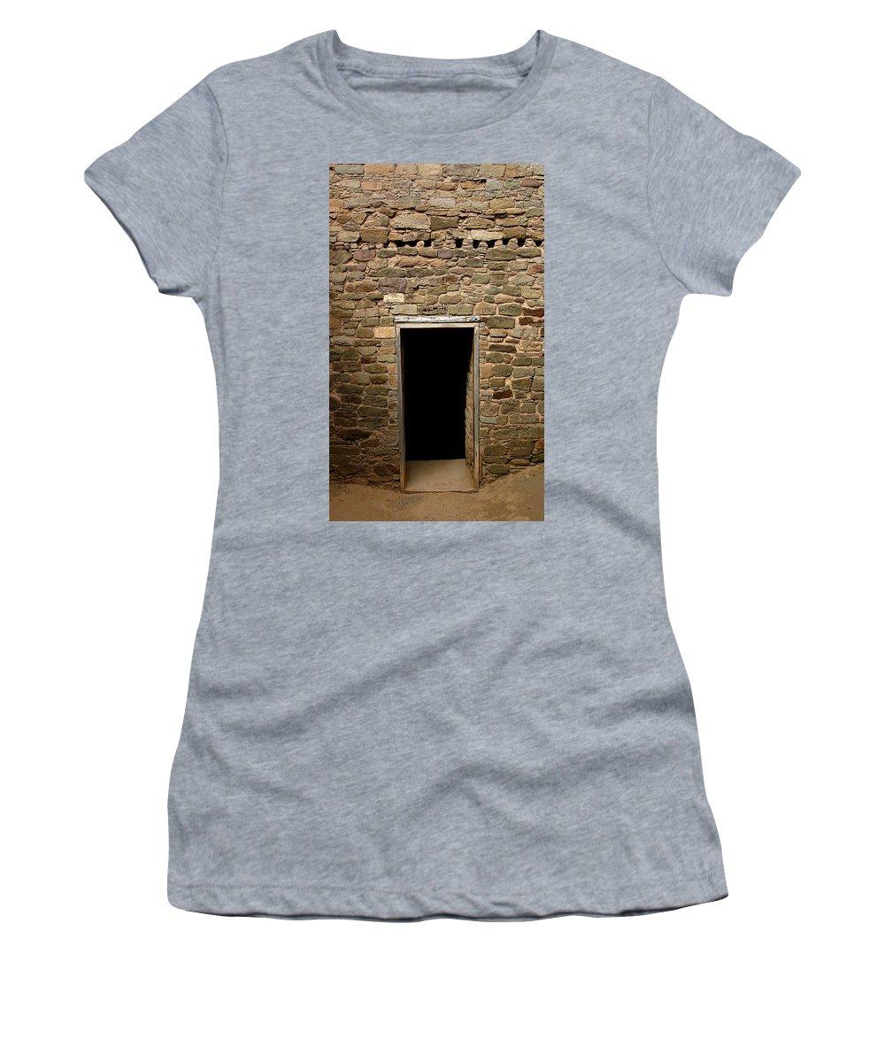 Aztec Women's T-Shirt featuring the photograph Aztec Passage by Joe Kozlowski