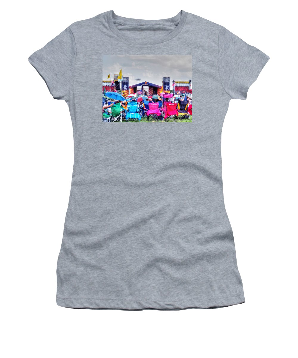 New Orleans Women's T-Shirt featuring the photograph Back Row Seats by William Morgan