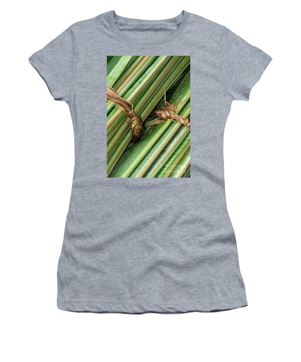 Roll Women's T-Shirt (Athletic Fit) featuring the photograph Banana Leaves by Rick Piper Photography