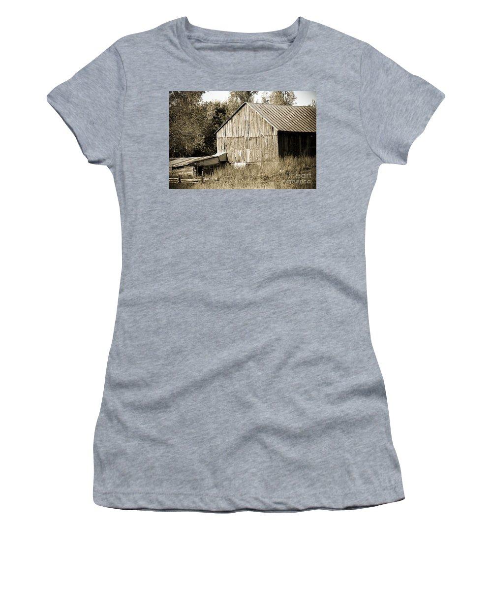 Women's T-Shirt featuring the photograph Barn by Cheryl Baxter