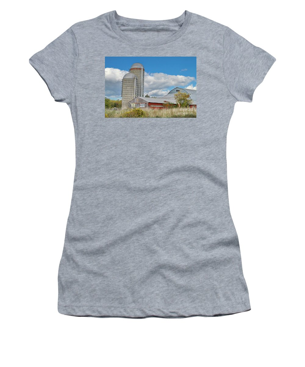 Barn Women's T-Shirt featuring the photograph Barn In The Clouds by Deborah Benoit