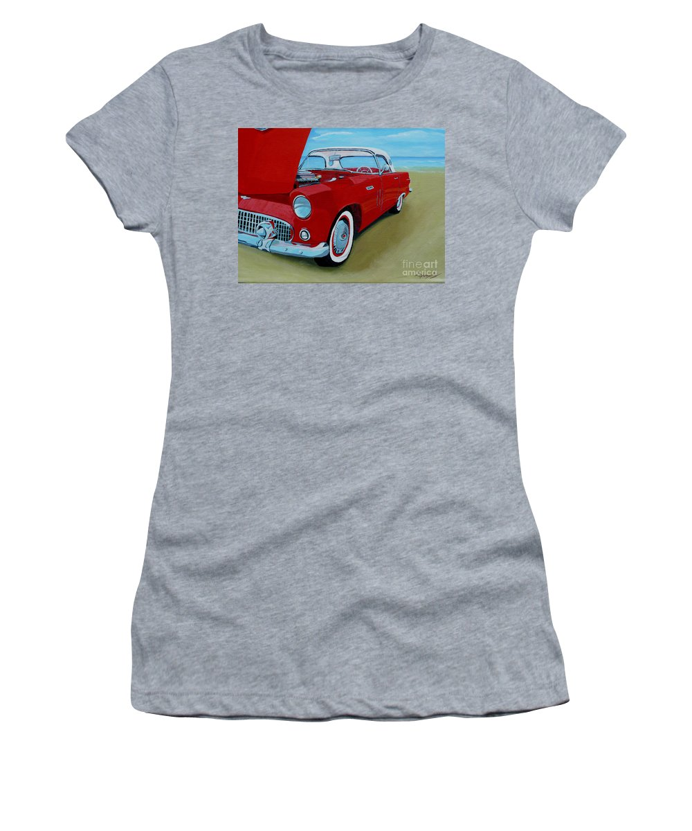 Car Women's T-Shirt (Athletic Fit) featuring the painting Thunder Bird by Anthony Dunphy