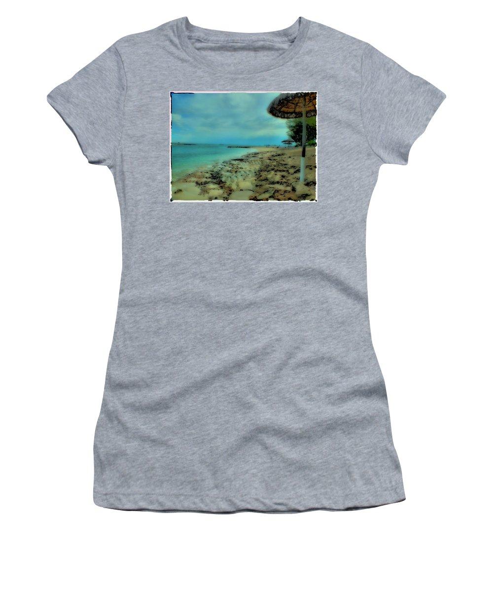 John Holfinger Women's T-Shirt (Athletic Fit) featuring the photograph Beach Holiday by John Holfinger
