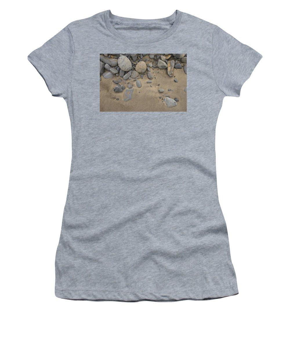 Newfoundland Women's T-Shirt featuring the photograph Beach Rocks by David Stone