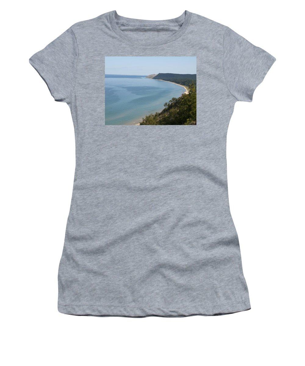 Beach Women's T-Shirt (Athletic Fit) featuring the photograph Beach View by Tara Lynn