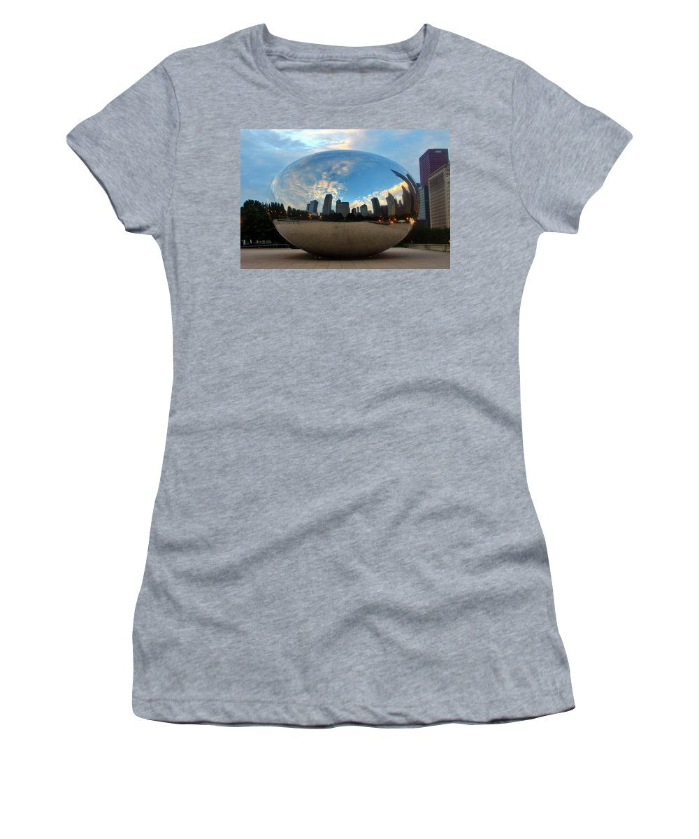 Cloude Gate Women's T-Shirt (Athletic Fit) featuring the photograph Bean For Breakfast by Christopher Miles Carter