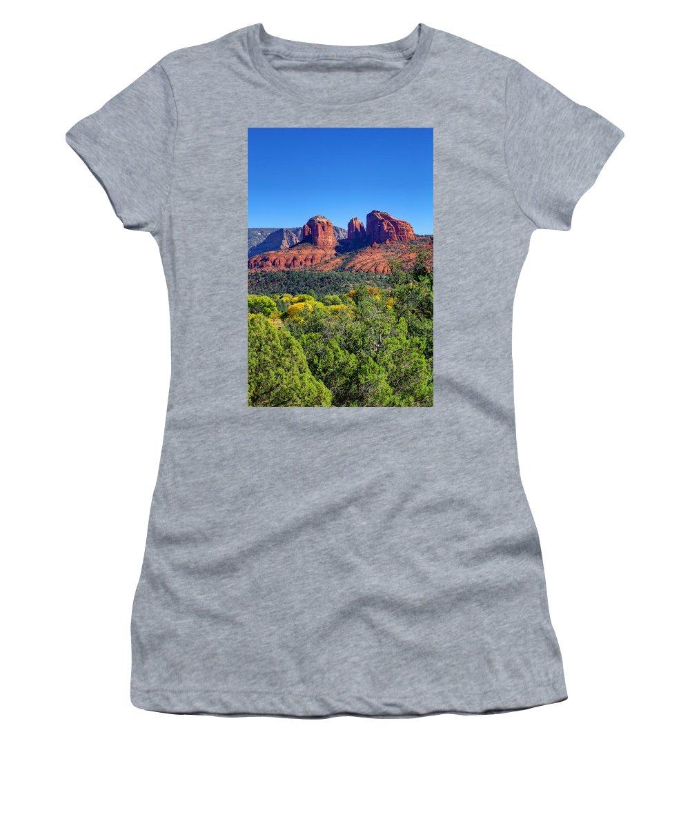Arizona Women's T-Shirt featuring the photograph Beautiful Arizona by Deb Buchanan