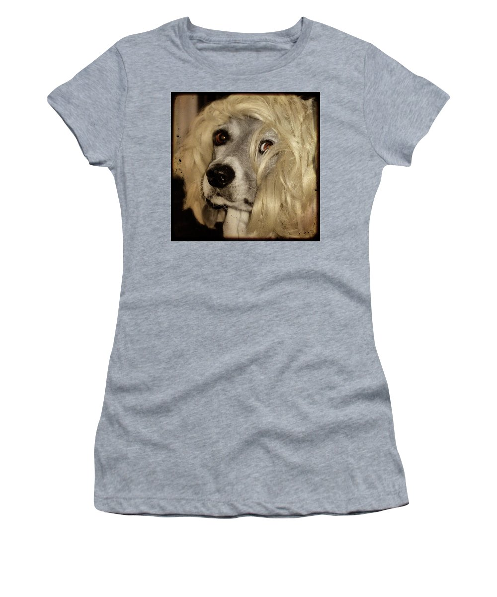 Dog Women's T-Shirt (Athletic Fit) featuring the photograph Beauty by Gothicrow Images