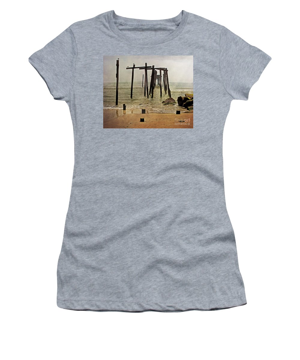 Ocean City Women's T-Shirt (Athletic Fit) featuring the photograph Before Sandy by Tom Gari Gallery-Three-Photography