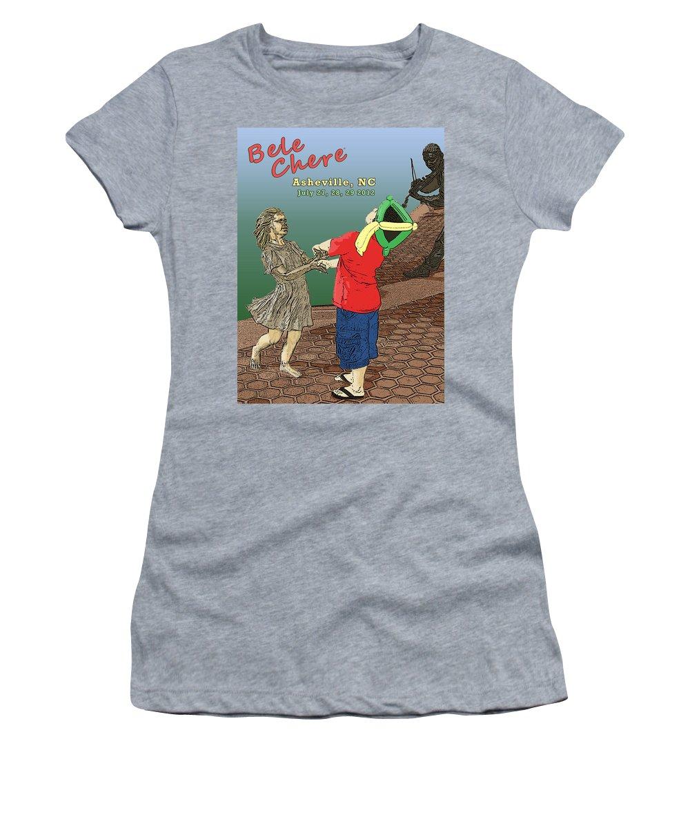 Bele Chere Women's T-Shirt (Athletic Fit) featuring the digital art Bele Chere 2012 by John Haldane