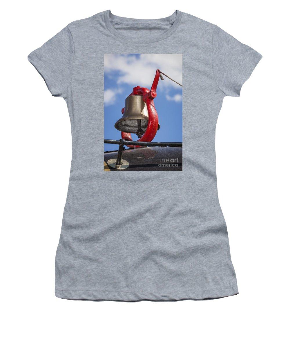 Bell Women's T-Shirt featuring the photograph Bell On Steam Engine by Bryan Mullennix