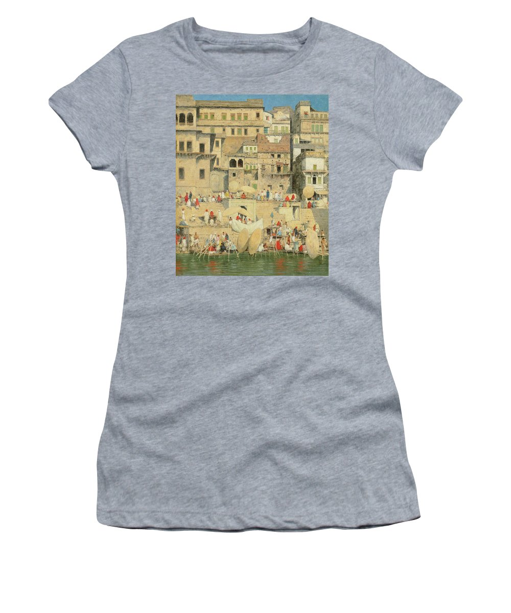 Benares Women's T-Shirt featuring the painting Benares by Mortimer Ludington Menpes