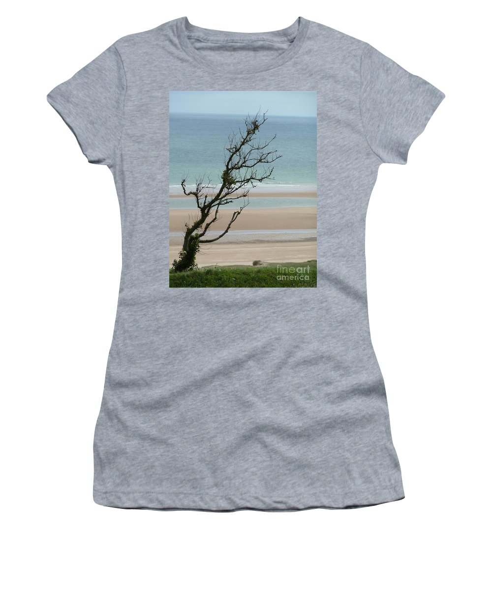 Wind Women's T-Shirt featuring the photograph Bent In The Wind by Christine Huwer