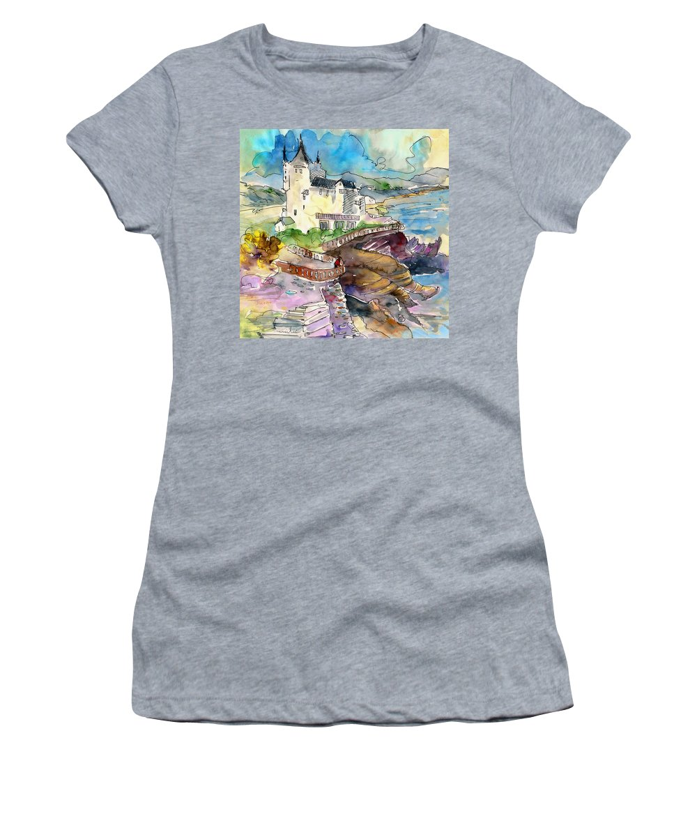 Travel Women's T-Shirt featuring the painting Biarritz 02 by Miki De Goodaboom