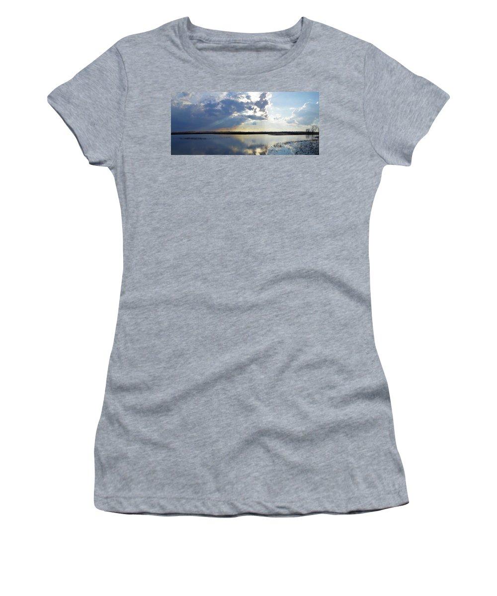 Marsh Women's T-Shirt featuring the photograph Big Marsh Sunset by Bonfire Photography