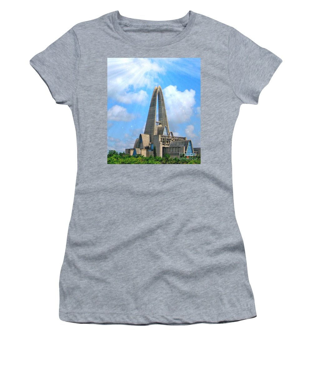 The Basilica Catedral Nuestra Senora De La Altagracia Women's T-Shirt featuring the photograph Blessings by Lilliana Mendez
