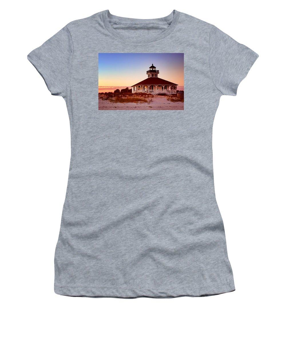 Boca Grande Women's T-Shirt featuring the photograph Boca Grande Lighthouse - Florida by Nikolyn McDonald