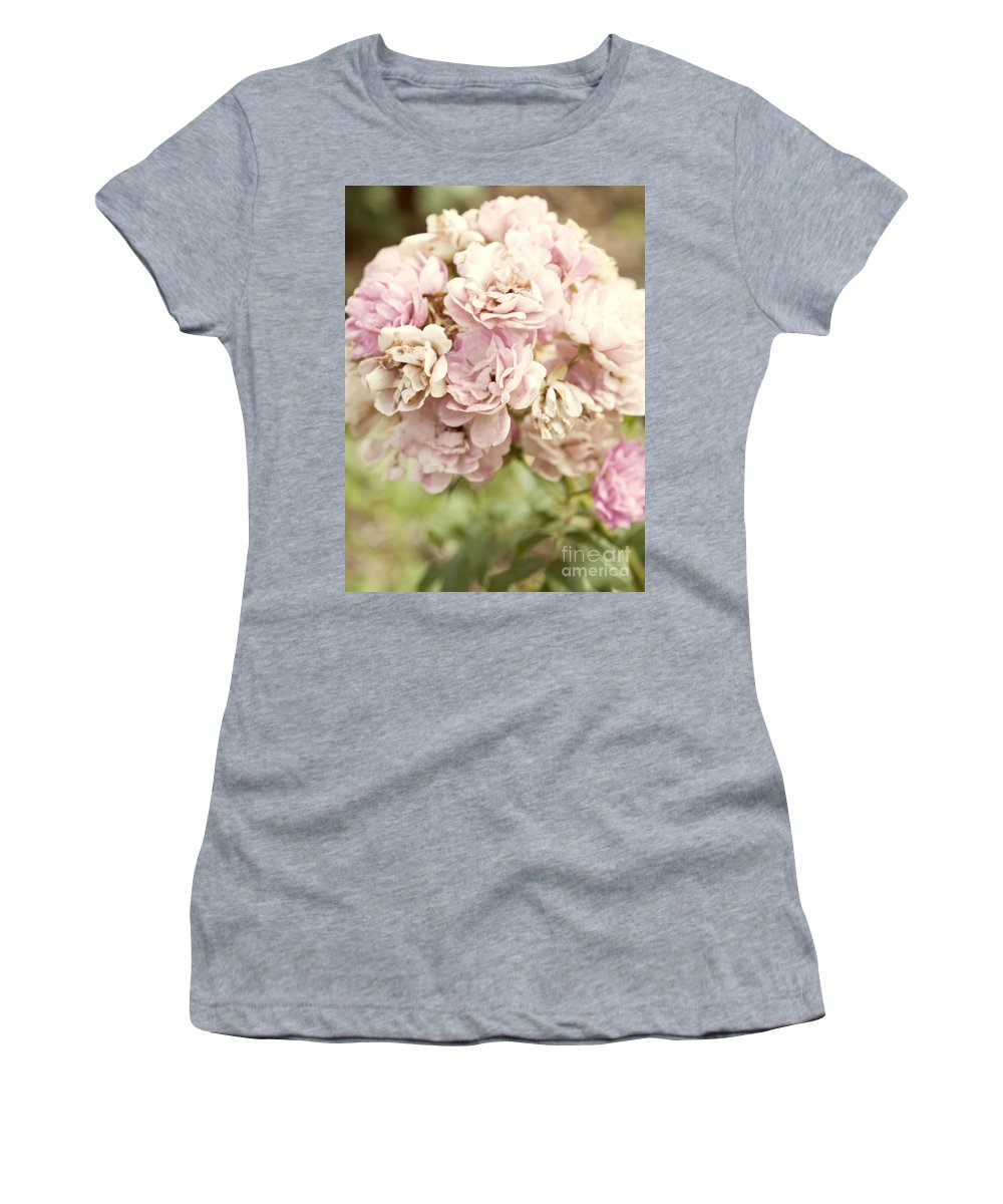 Beauty In Nature Women's T-Shirt (Athletic Fit) featuring the photograph Bouquet Of Vintage Roses by Juli Scalzi