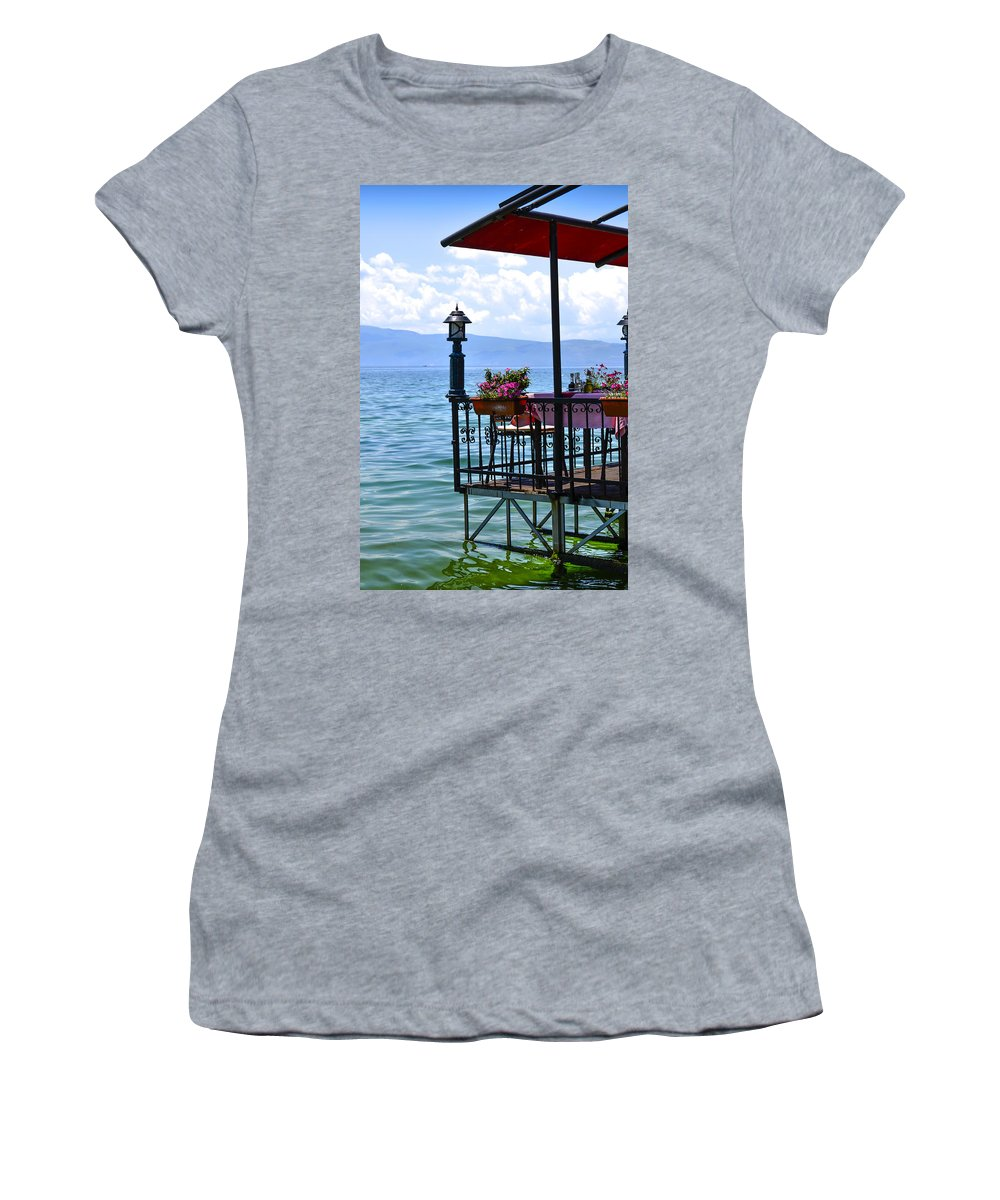 View Women's T-Shirt featuring the photograph Breakfast For Two by Sotiris Filippou