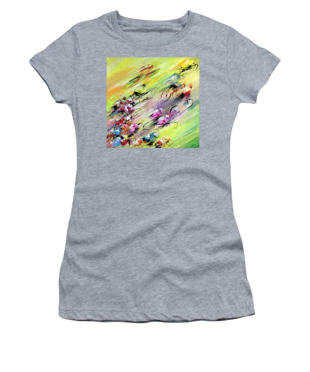 Sports Women's T-Shirt (Athletic Fit) featuring the painting Breaking Away by Miki De Goodaboom