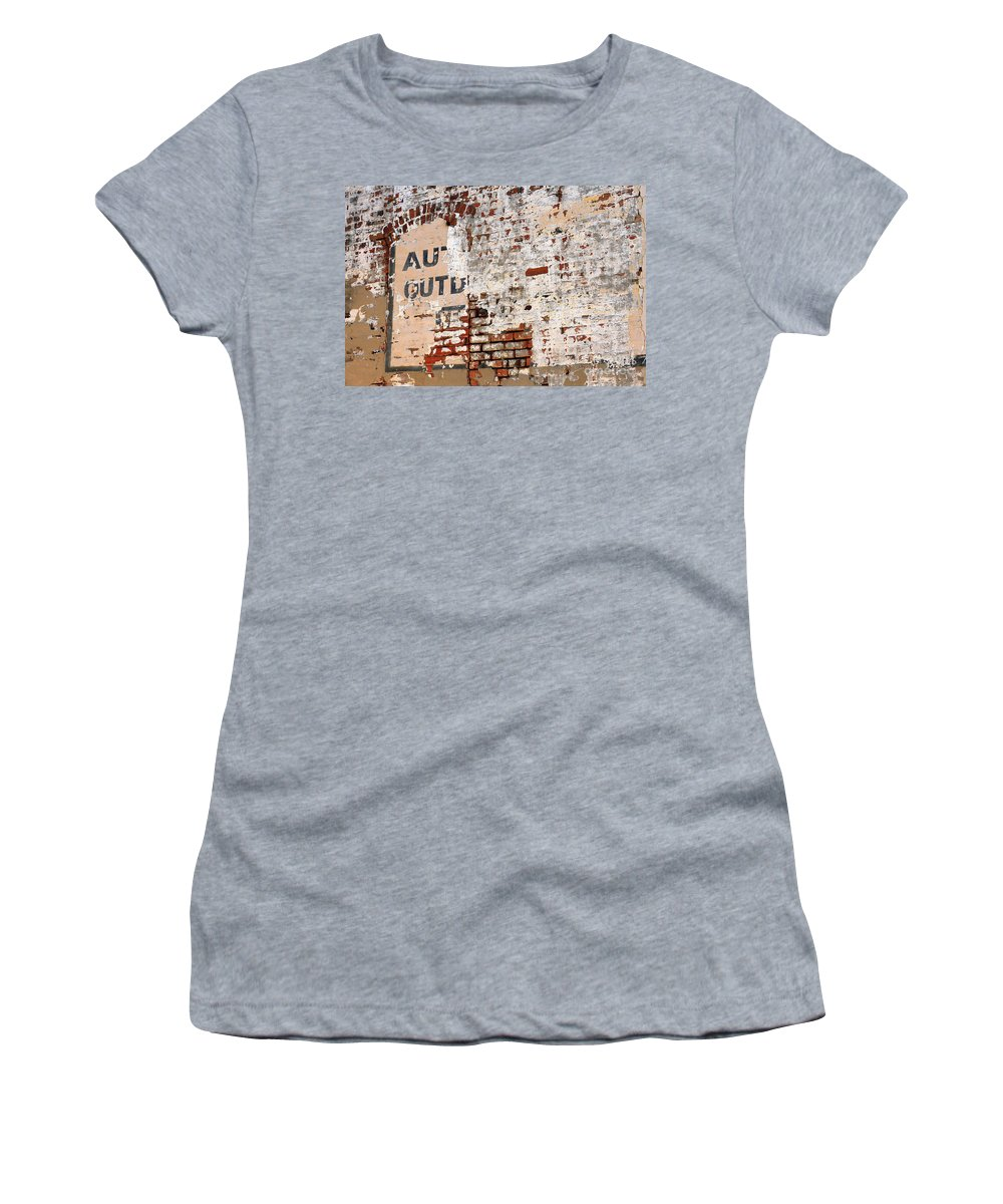 Texas Women's T-Shirt (Athletic Fit) featuring the photograph Brick Wall by Ashley M Conger