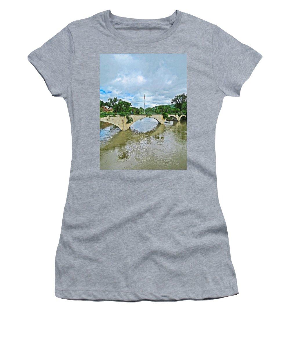 Bridge Of Flowers Women's T-Shirt featuring the photograph Bridge Of Flowers Scene by MTBobbins Photography