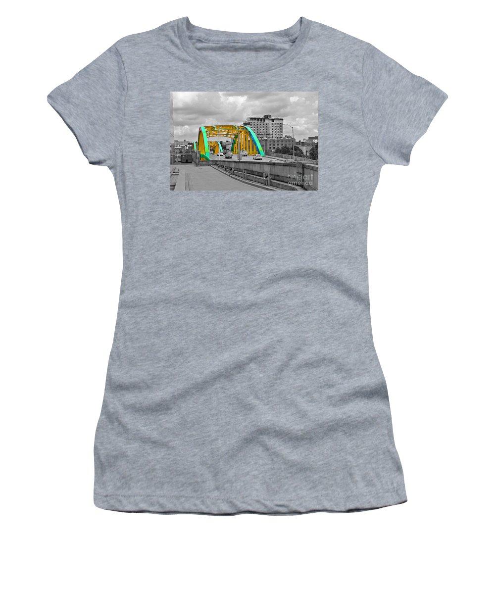 Baltimore Women's T-Shirt (Athletic Fit) featuring the photograph Bridge Pop by Jost Houk