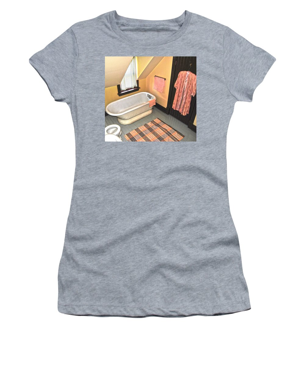 Washroom Women's T-Shirt featuring the photograph Bubble Bath by The Artist Project