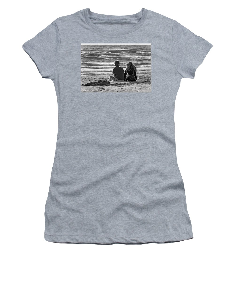 Love Women's T-Shirt featuring the photograph Building Dreams Monochrome by Steve Harrington