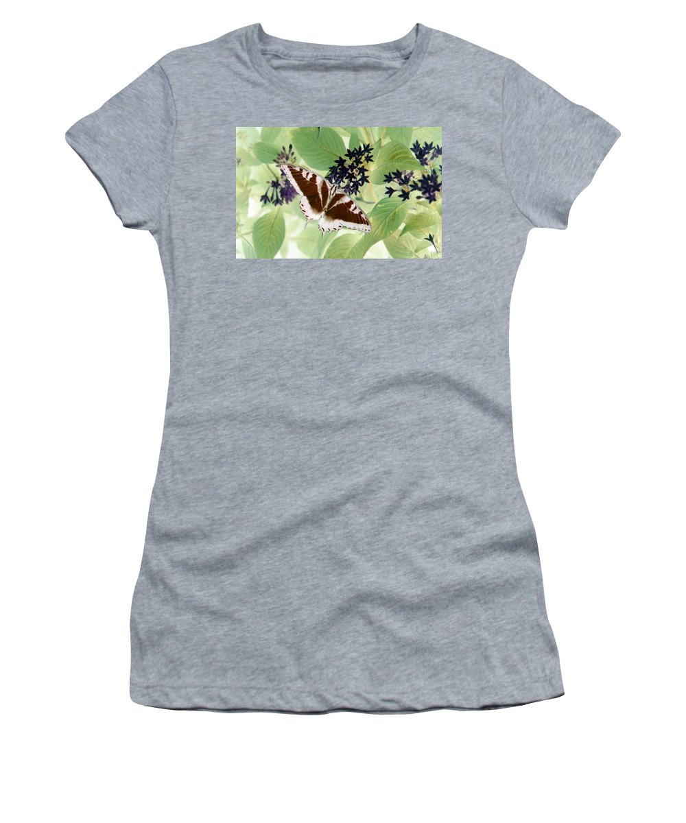 Butterfly Women's T-Shirt featuring the photograph Butterfly - Swallowtail - Photopower 140 by Pamela Critchlow
