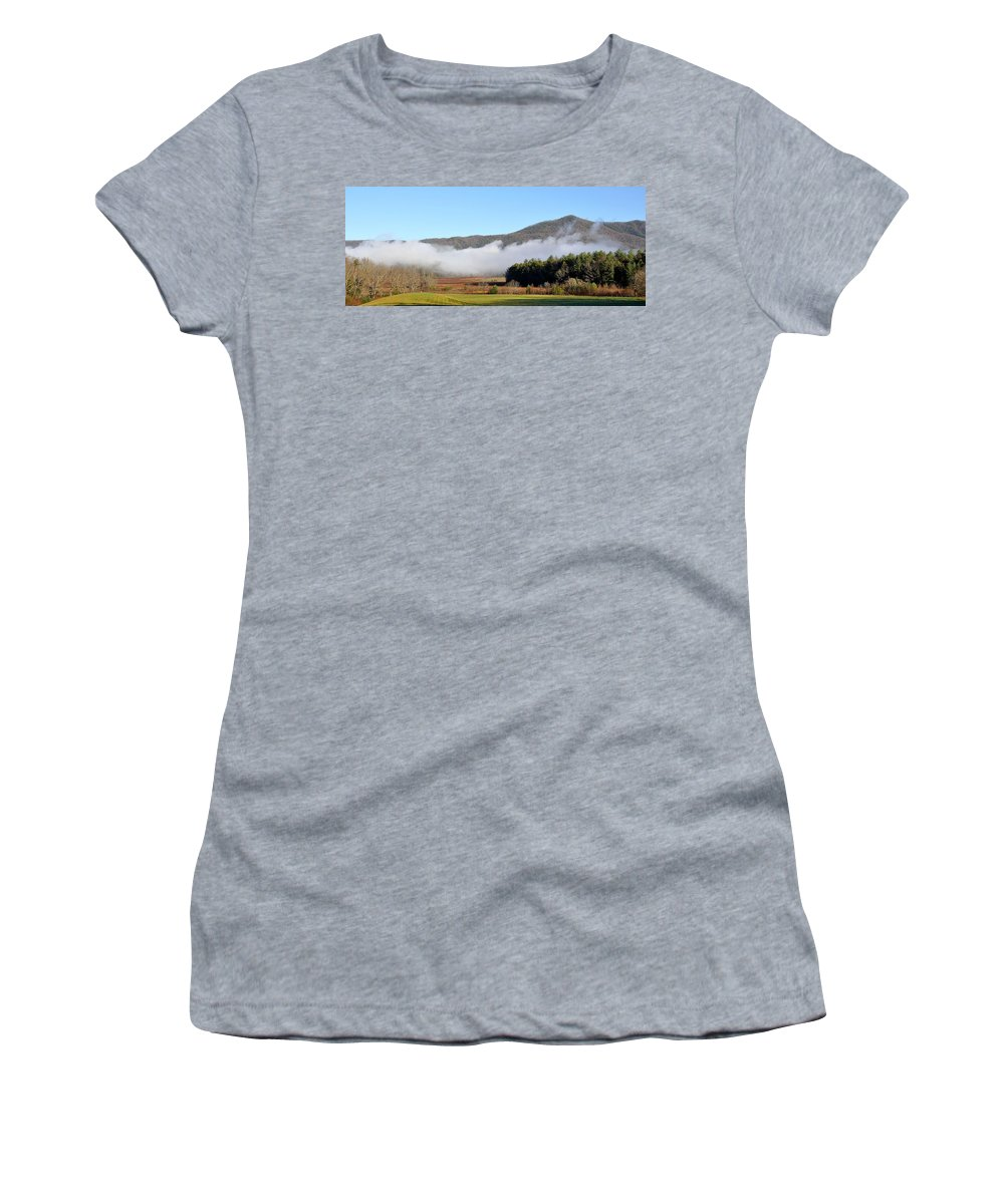 Cades Cove Women's T-Shirt featuring the photograph Cades Cove Fields by Todd Hostetter