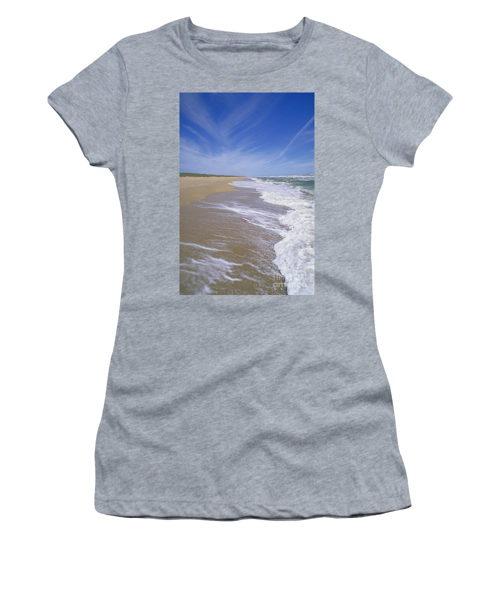 Sandy Women's T-Shirt featuring the photograph Canaveral National Seashore by Millard H. Sharp