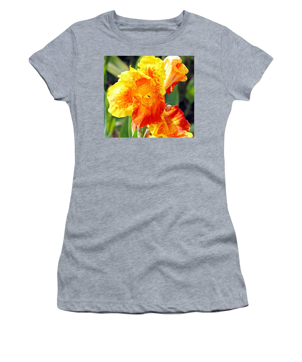 Canna Women's T-Shirt featuring the photograph Cannas by Paul Fell