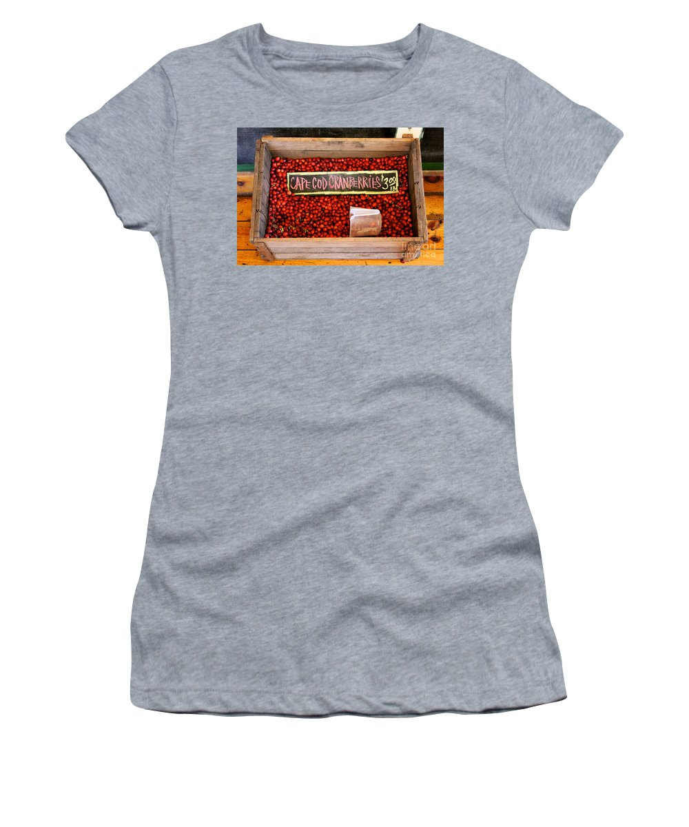 Boston Women's T-Shirt (Athletic Fit) featuring the photograph Cape Cod Cranberries by Jannis Werner
