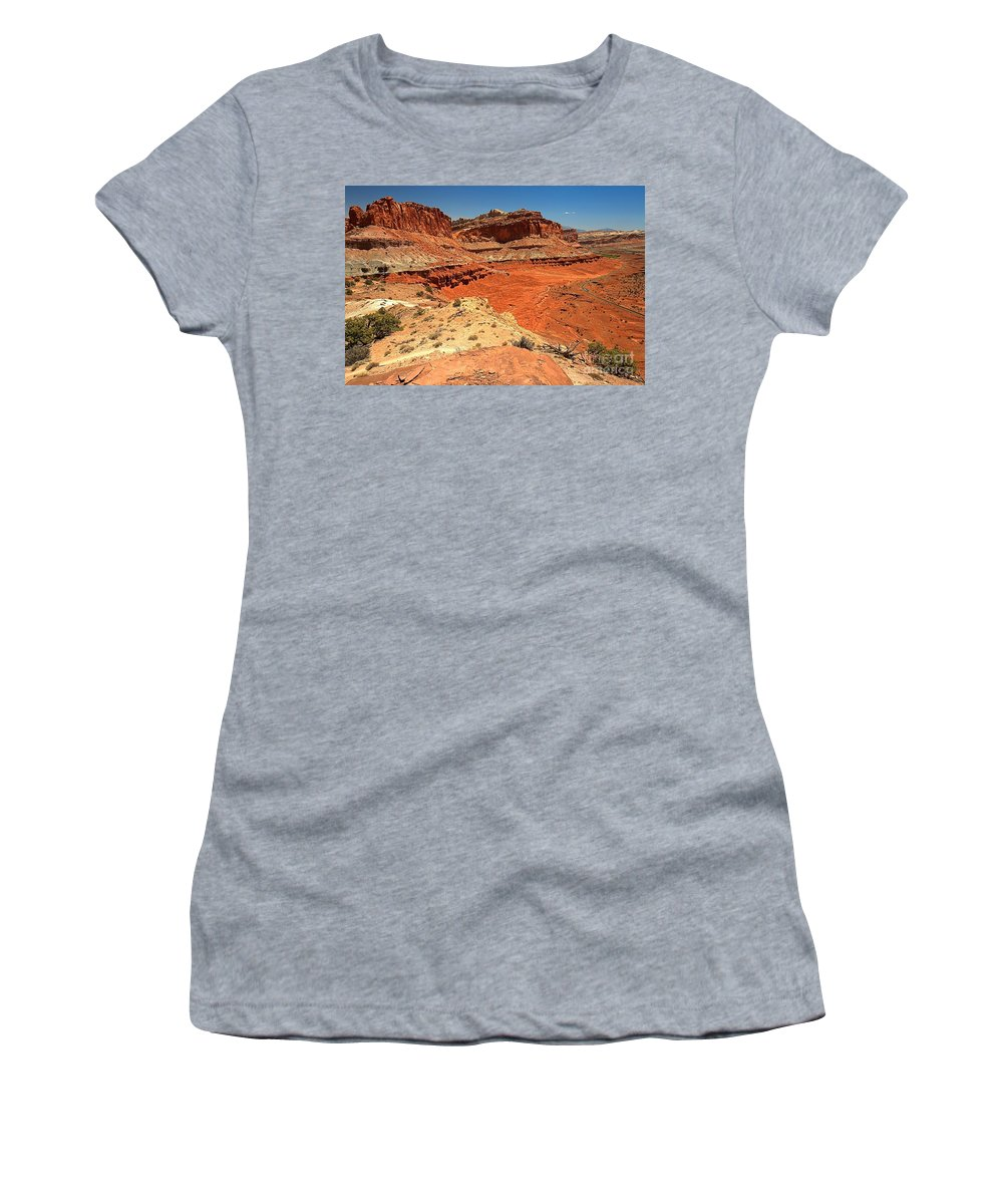 Capitol Reef National Park Women's T-Shirt featuring the photograph Capitol Reef Colorful Landscape by Adam Jewell