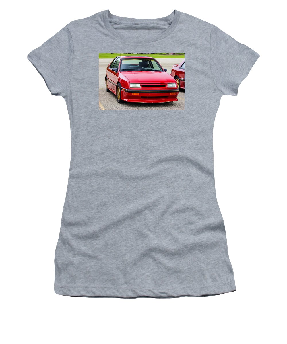 Dodge Shelby Csx Women's T-Shirt (Athletic Fit) featuring the photograph Car Show 032 by Josh Bryant