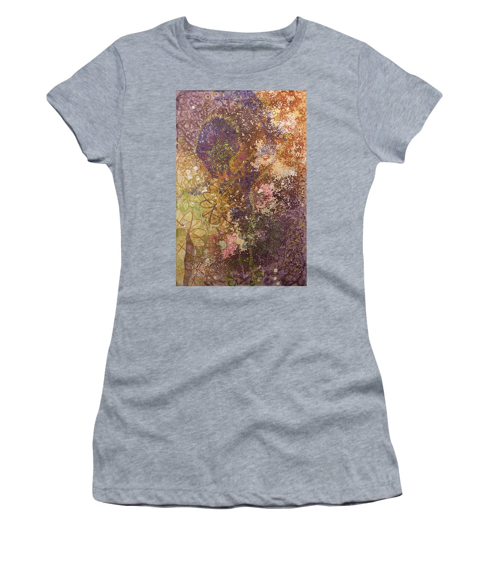 Calligraphy Women's T-Shirt featuring the painting Carbon Base by Sid Freeman