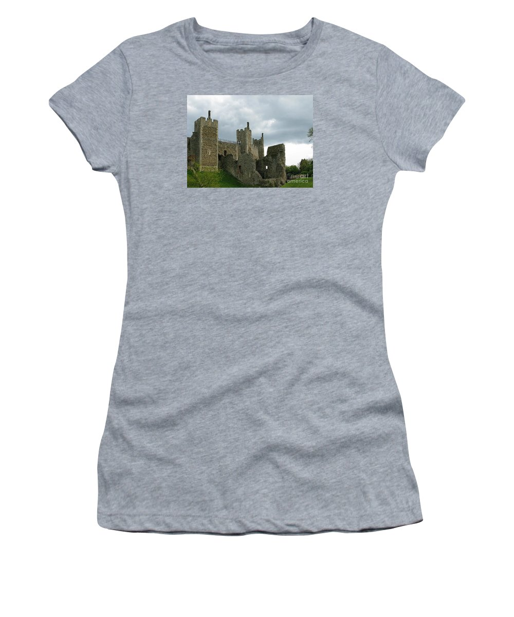 Castle Women's T-Shirt featuring the photograph Castle Curtain Wall by Ann Horn