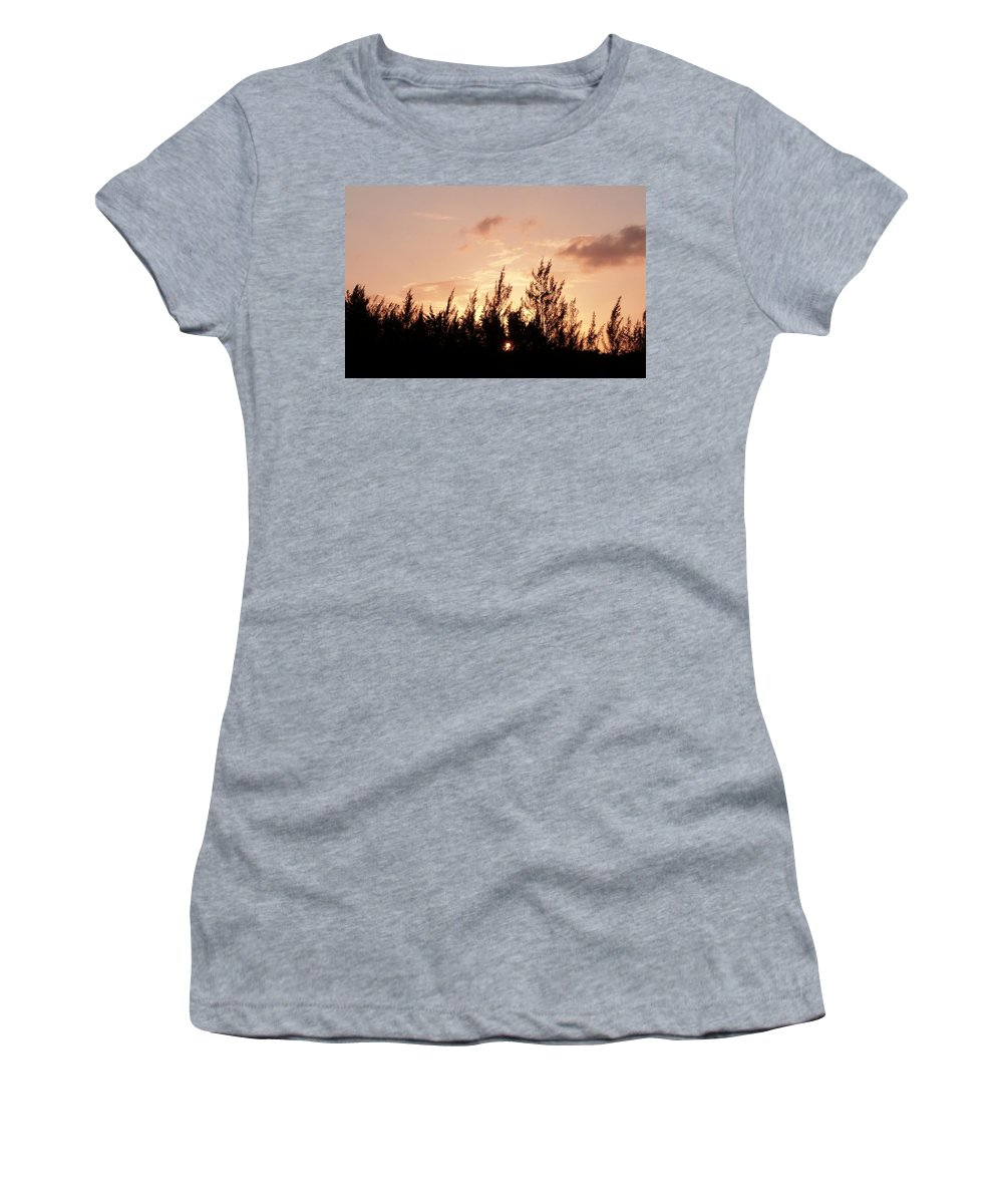 Color Women's T-Shirt (Athletic Fit) featuring the photograph Casurina Sunset by Amar Sheow