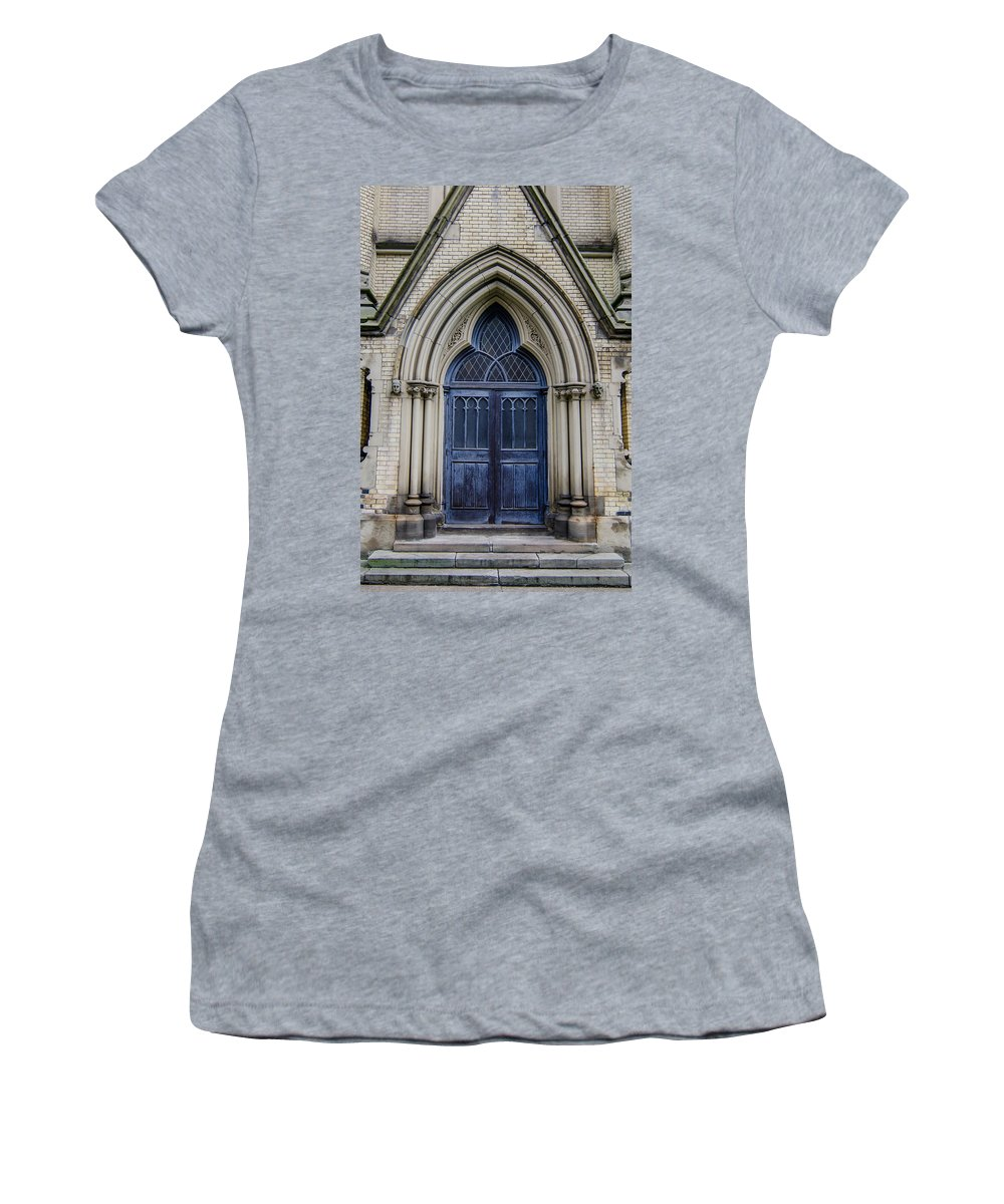 Buildings Women's T-Shirt featuring the photograph Cathedral Church Of St James 1105 by Guy Whiteley